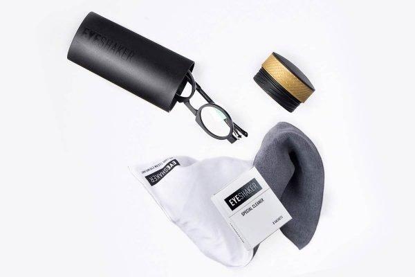 EyeShaker Kit - Shaker + Speciale panno in microfibra + detergente